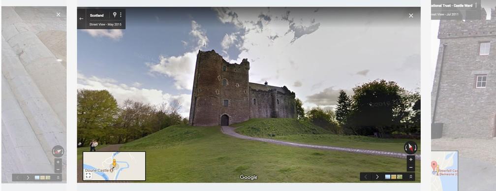 Castelo da Escócia onde foram filmadas as cenas de Winterfell da série 'Game of Thrones' (Foto: Divulgação/Google)