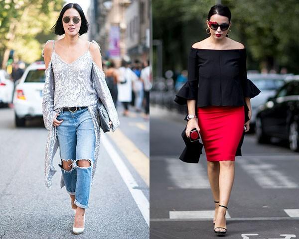 Combine as blusas com jeans, calças de alfaiataria ou saia mídi (Foto: Imaxtree)