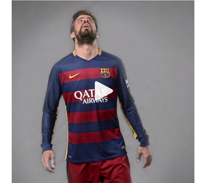 Piqué - nova camisa do Barcelona