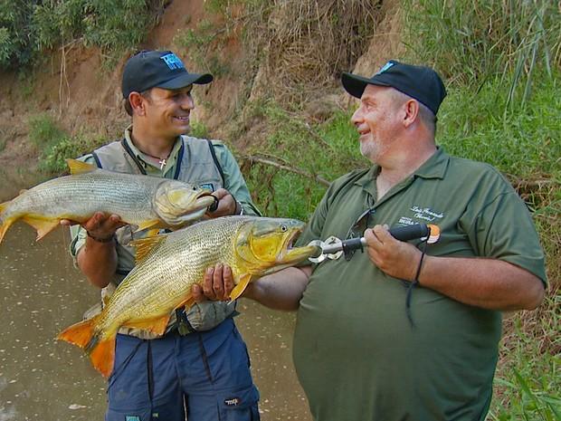 Pesca Dourado Piracicaba (Foto: Domingos Sávio Monteiro/Tg)