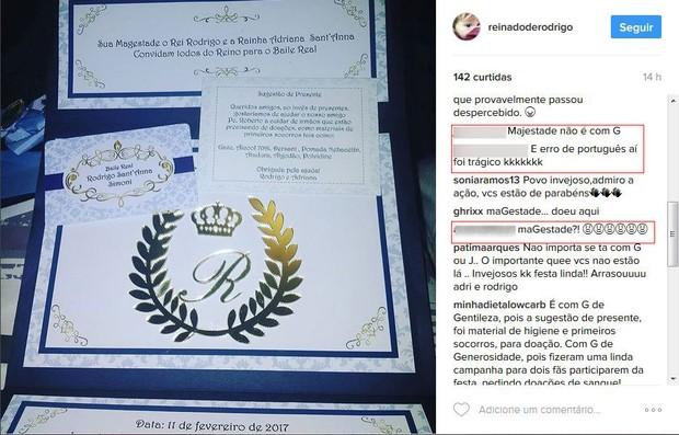 Convite da festa do filho de Adriana (Foto: Reprodução/Instagram)