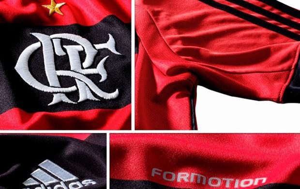 MOSAICO - detalhes camisa flamengo (Foto: Divulgação)