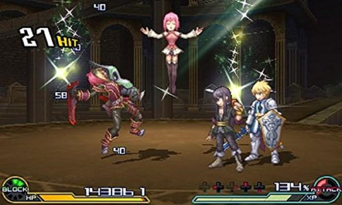 Project X Zone 2 tem jeitão de RPG estratégico (Foto: Divulgação/Bandai Namco)