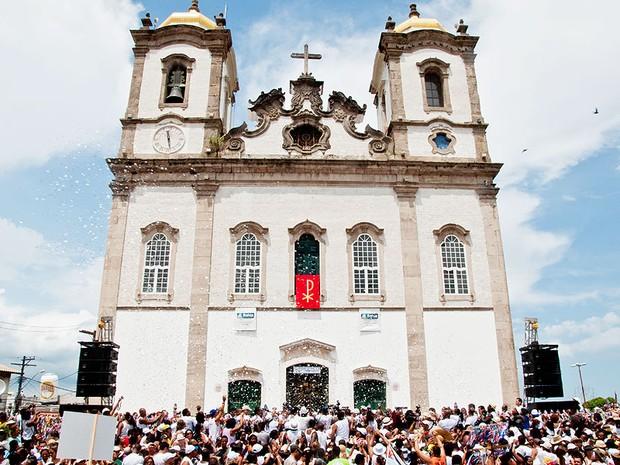 Lavagem do Bonfim na Bahia (Foto: Julien Karl/ G1)