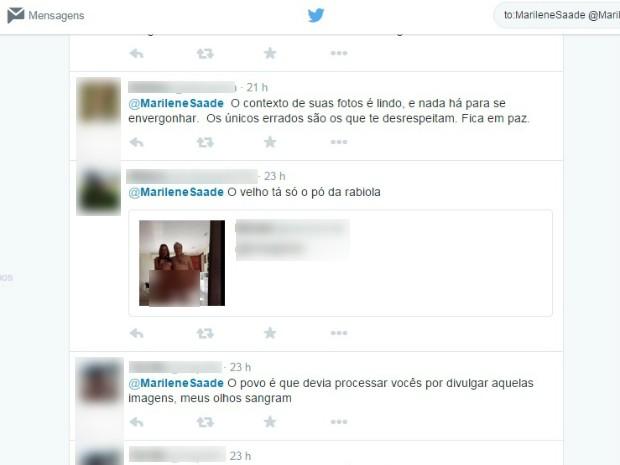 Marilene recebeu apoio de uma interneuta (Foto: Matheus Rodrigues/ G1)