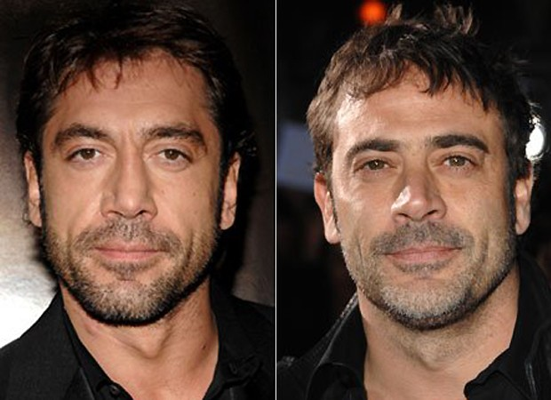 Javier Bardem e o ator Jeffrey Dean Morgan (Foto: Getty Images)
