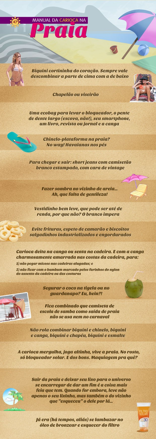 Manual da Carioca na Praia (Foto: EGO)