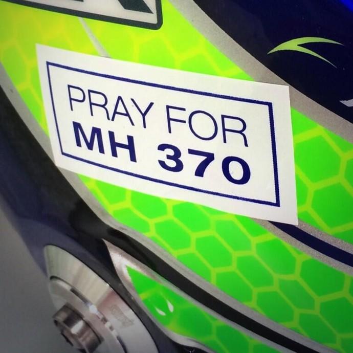 Capacete de Felipe Massa com homenagem a vítimas do voo MH370 - GP da Malásia (Foto: Divulgação)