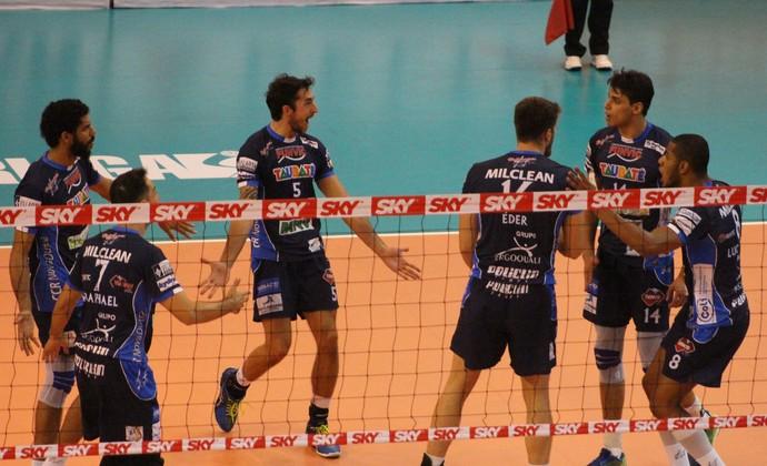 Vôlei Taubaté x Sesi-SP Superliga semifinal (Foto: Rafinha Oliveira/Funvic Taubaté)