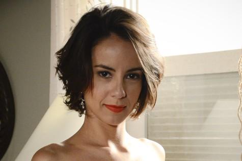 Andreia Horta usará aplique em 'A teia' (Foto: Raphael Dias/TV Globo)