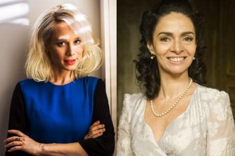 Mariana Ximenes e Claudia Ohana: casal em filme (Foto: Fabio Seixo/OGlobo e Cynthia Salles/TV Globo)