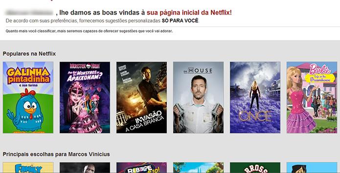 Novo perfil criado no Netflix (Foto: Reprodução/Marvin Costa)