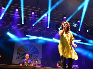 Aline Barros (Foto: Eduardo Andrade/Prefeitura de Boa Vista)