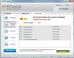 MYPCTuneUp, reparar erros do Windows, MYPCTuneUp
