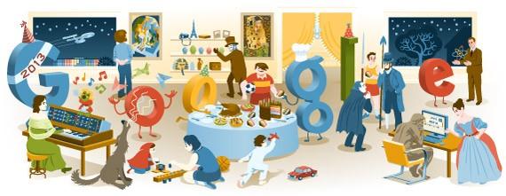 Doodle do Google para o Ano Novo de 2012 para 2013 (Foto: Reprodução/Google)