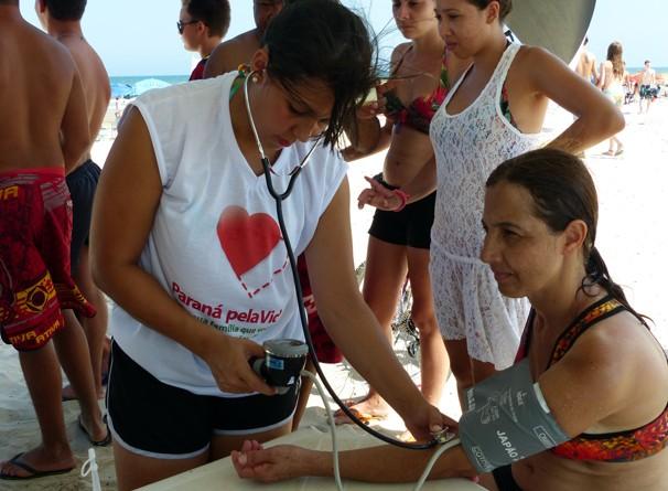 Medição de pressão Pontal + Verão (Foto: Divulgação/ RPC)