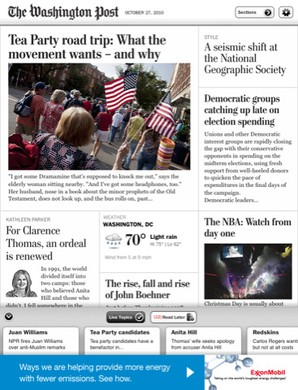 Washington Post no iPad