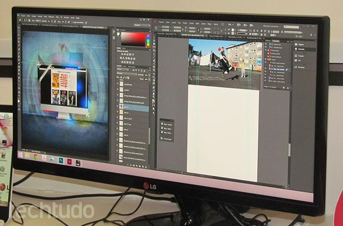 Novo monitor Ultrawide de 25 polegadas da LG permite maior produtividade (Foto: Paulo Alves/TechTudo)