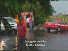 Chuva deixa carro embaixo d´água em Indaiatuba e afeta mais 2 cidades
