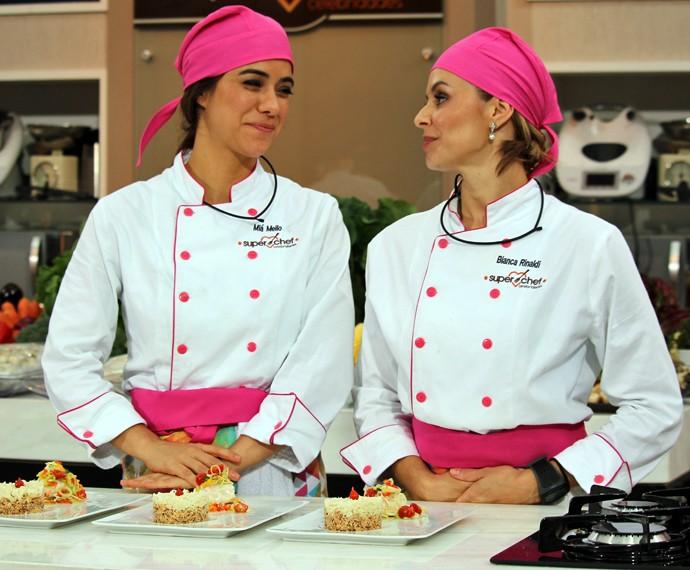 Miá Mello e Bianca Rinaldi participam de prova da imunidade (Foto: Carolina Morgado/Gshow)