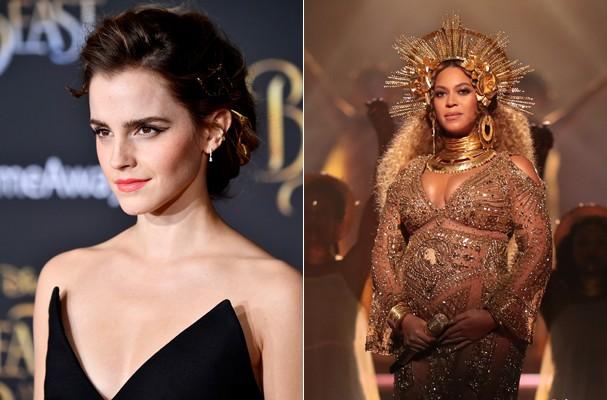 Emma Watson e Beyoncé (Foto: Getty Images)
