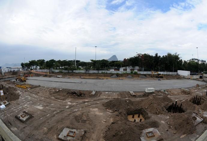 Obras Marina da Glória Olimpíadas Rio 2016 (Foto: André Durão)