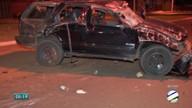 Carro capota e três pessoas ficam feridas, em Campo Grande