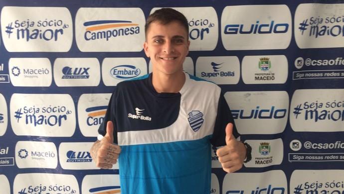 Lucas Limão, meia do CSA (Foto: Assessoria de Imprensa/CSA)