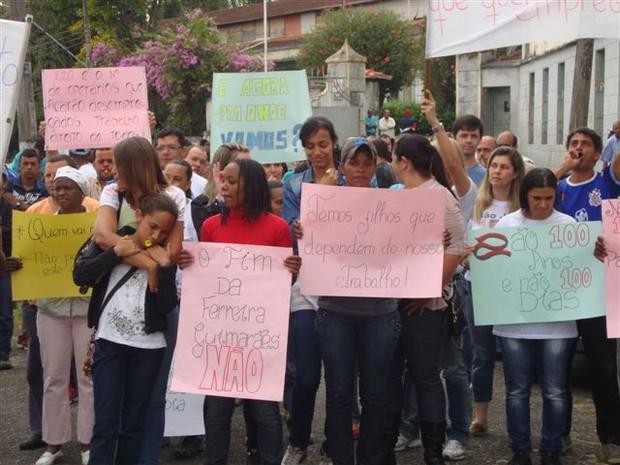 Protesto Ferreira Guimarães (Foto: Arquivo Pessoal/José Ferreira)