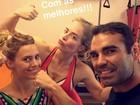 Angélica e Carolina Dieckmann exibem 'muque' durante treino