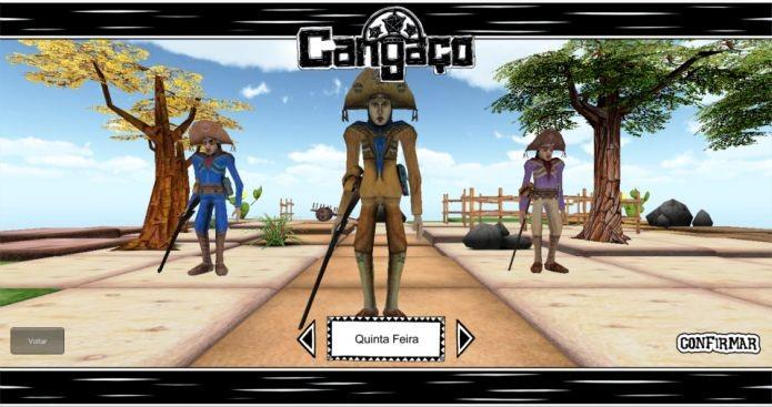 Versão não finalizada da tela de criação de heróis no jogo brasileiro Cangaço (Foto: Divulgação)