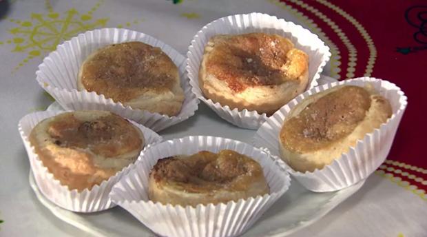 Pastel de Belém foi a delícia ensinada pelo 'Caminhos' deste domingo (25) (Foto: Reprodução/RPC)