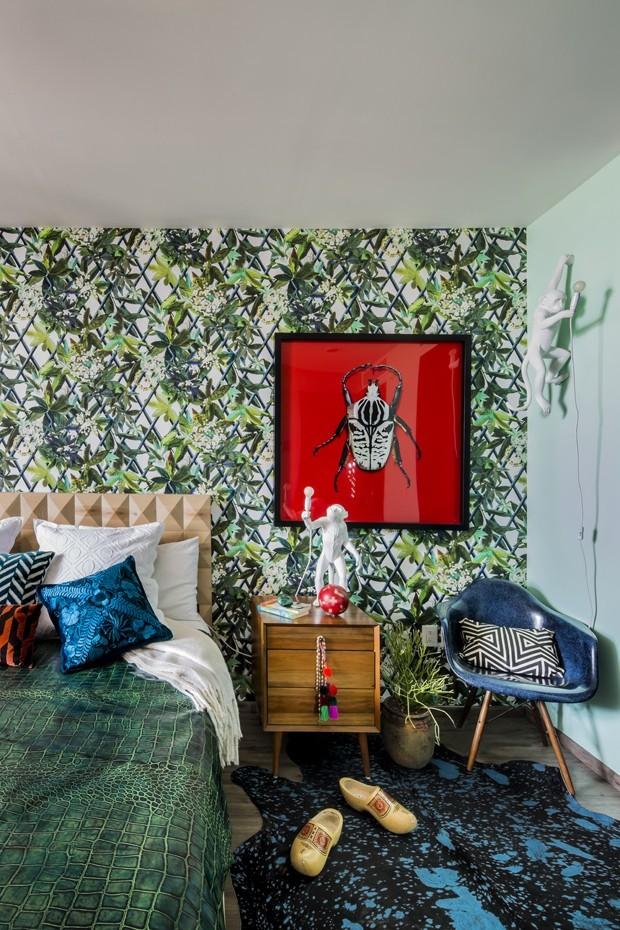 Décor do dia: quarto com estampas selvagens (Foto: divulgação)