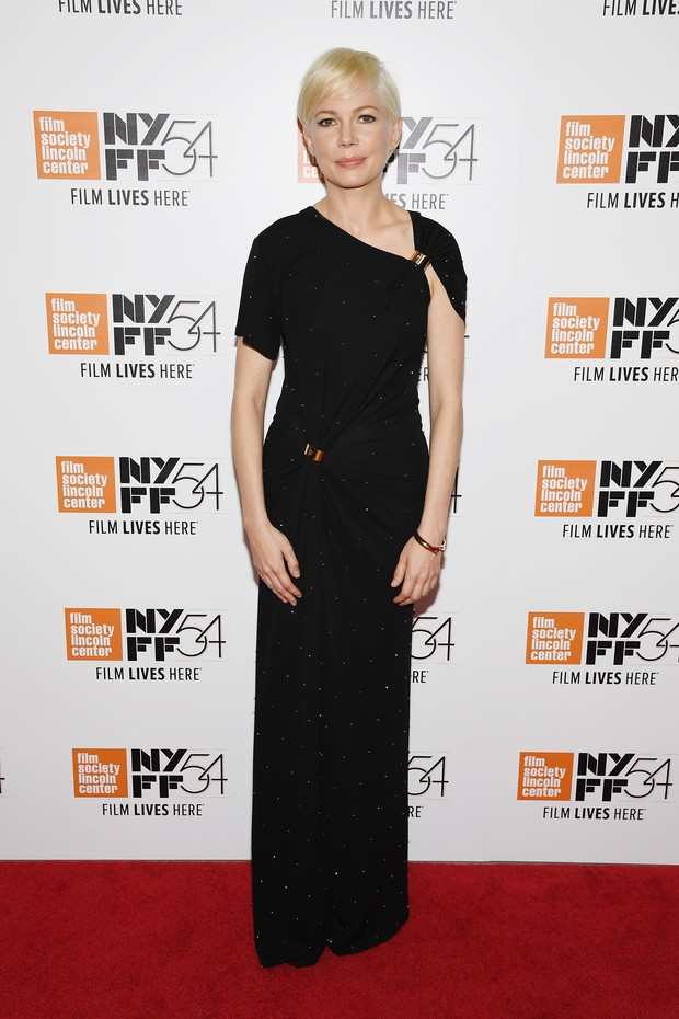 Michelle Williams em première de filme em Nova York, nos Estados Unidos (Foto: Dimitrios Kambouris/ Getty Images/ AFP)