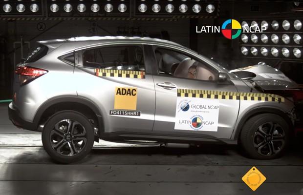 Honda HR-V conquista cinco estrelas em crash test do Latin NCAP (Foto: Latin NCAP)
