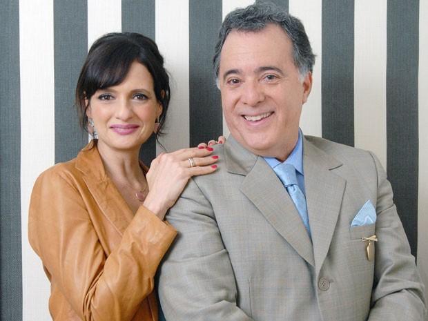Denise Fraga e Tony Ramos em cena de 'A mulher do prefeito (Foto: Globo/Zé Paulo Cardeal)