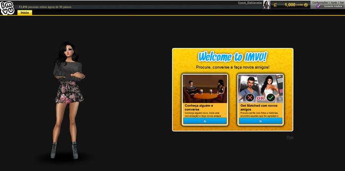 Veja como criar seu registro no IMVU (Foto: Reprodução/Barbara Mannara)