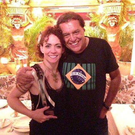 Laila Garin e Dennis Carvalho (Foto: Arquivo pessoal)