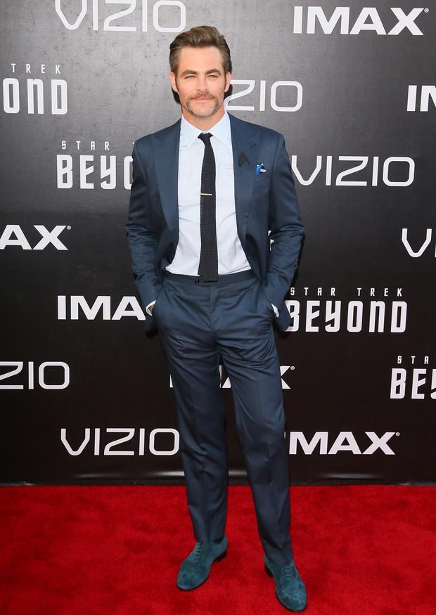 Chris Pine em première de filme em San Diego, nos Estados Unidos (Foto: Jean Baptiste Lacroix/ AFP)