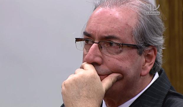 Eduardo Cunha na CCJ (Foto: Reprodução)