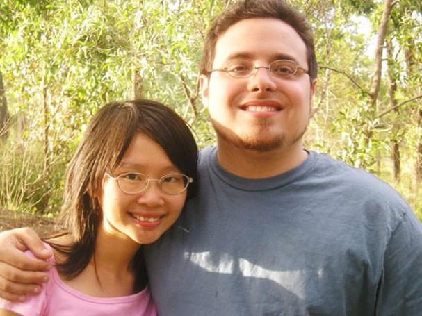 Andrea, antes da transição, com Susanna Liang (Foto: Arquivo pessoal)