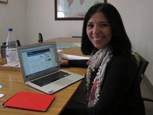 Angélia Natera é diretora da Laspau e veio divulgar programa no Brasil (Foto: Vanessa Fajardo/ G1)