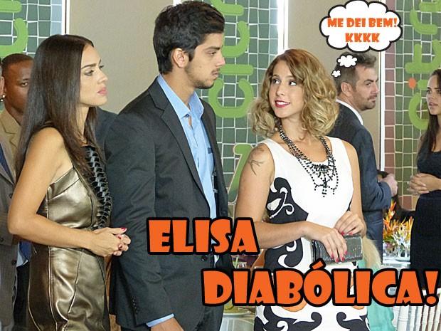 Elisa diabólica! A víbora armou e conseguiu deixar o Bruno queimadão com a chefe! (Foto: Malhação / Tv Globo)