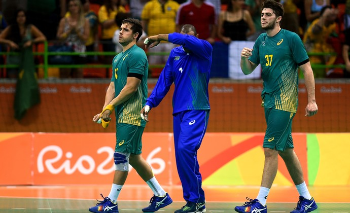 Goleiro Maik handebol brasil (Foto: Getty Images)