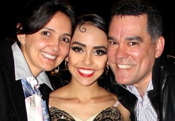 Pais de Amanda se mudaram para Joinville para acompanhá-la (Foto: Arquivo Pessoal/Divulgação)
