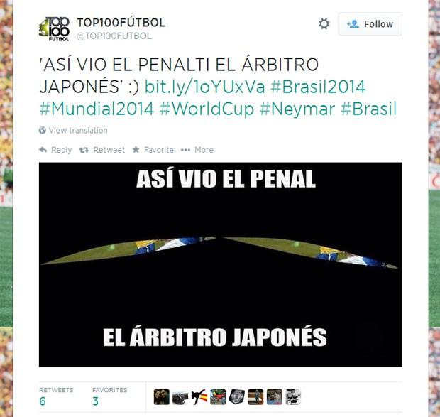 Juiz penalti Brasil (Foto: Reprodução)