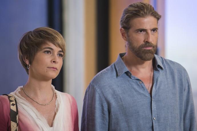 Pedro quer saber que Tião e Mág estão tramando outro atentado contra Fausto (Foto: Fábio Rocha/Gshow)