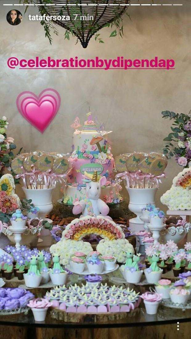 Parte da decoração da festa (Foto: Reprodução / Instagram)
