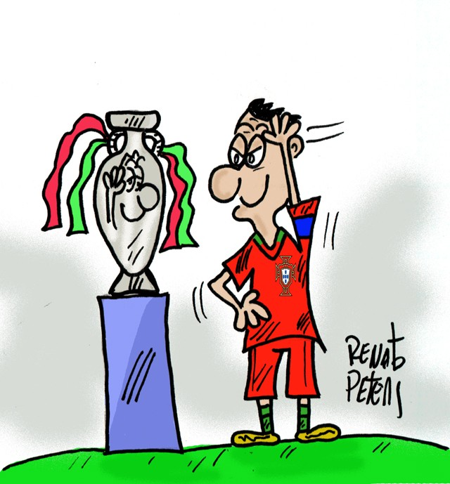 Portugal campeão - charge Peters