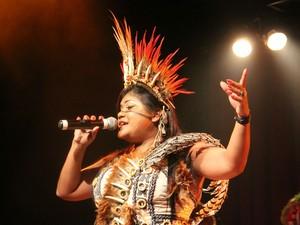 Voz de Márcia também faz parte do mais recente CD de Maria Bethânia, cantando Maracanandé (Foto: Sérgio Rodrigues/G1 AM)